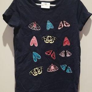 Dark Navy Blue Butterflies Shirt